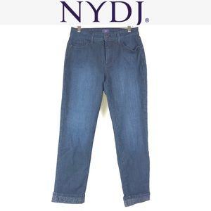 NYDJ boyfriend rolled hem crop jeans size 10